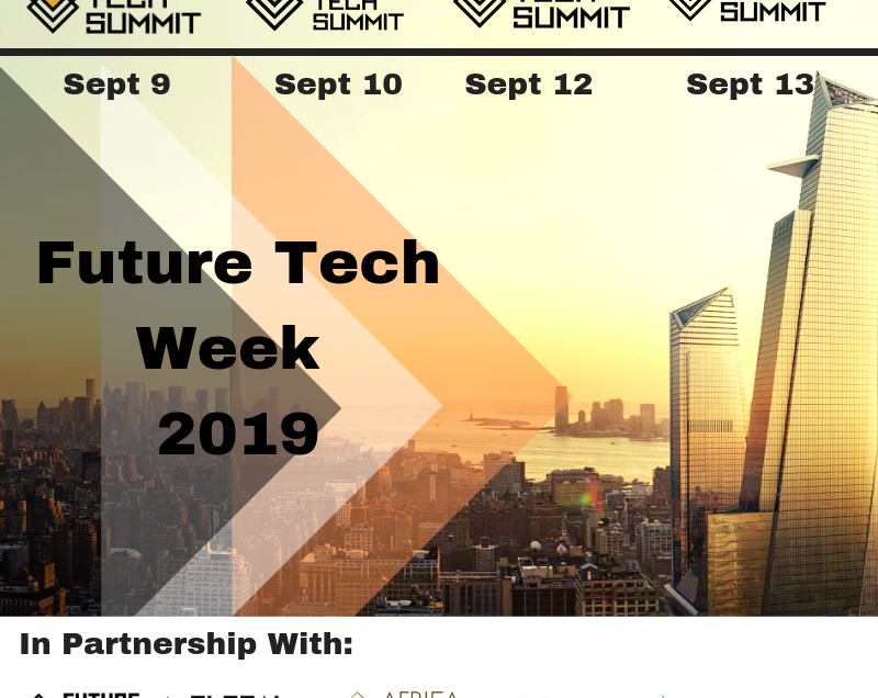 New York City Announces the Historic Launch of Future Tech Week With 1000 Global Delegates on September 2019